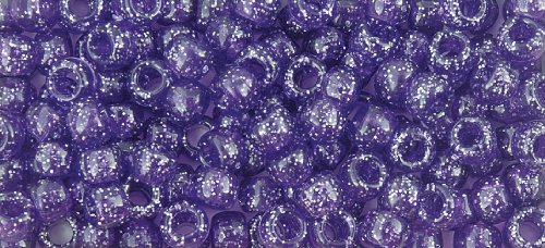 The Beadery 6 by 9mm Barrel Pony Bead in Dark Amethyst Sparkle, 900-Piece