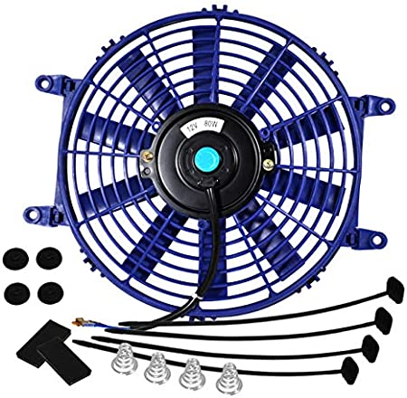 Mounting Kit AJP Distributors Universal High Performance 12V Electric Slim Radiator Push Pull Cooling Fan Black, 7 Inch