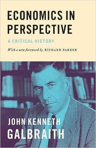 John Kenneth Galbraith Economics in Perspective Amazon Books
