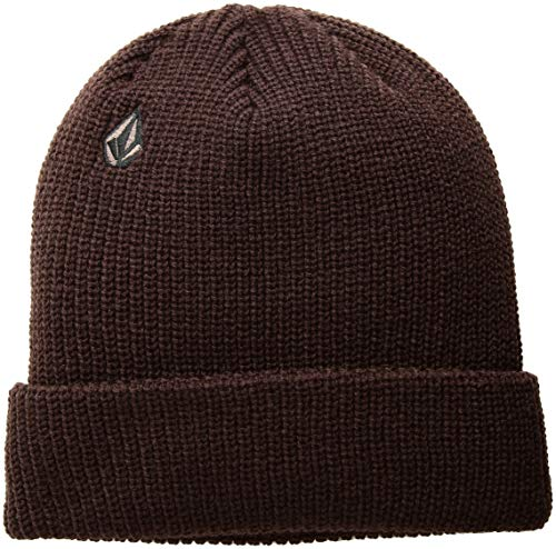 Volcom Men's Full Stone Beanie, Bordeaux Brown, ONE Size FITS ()