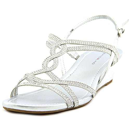 Bandolino Womens Gilnora Open Toe Casual Platform Sandals, SIL/SIL, Size 5.0