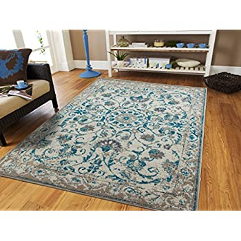 Traditional Vintage Area Rug Distressed Rug Blue 2x3 Door Mats Scatter Rugs