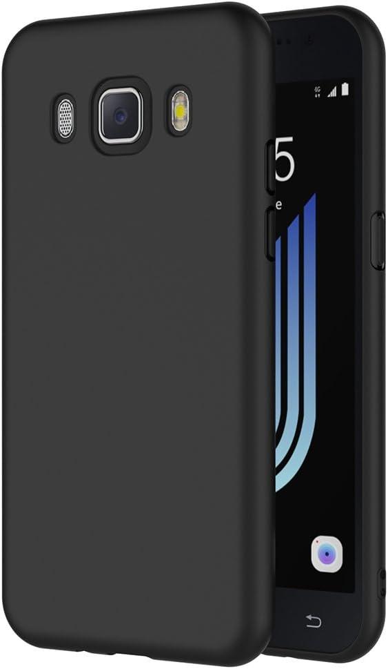 AICEK Funda Compatible Samsung Galaxy J5 2016, Negro Silicona ...