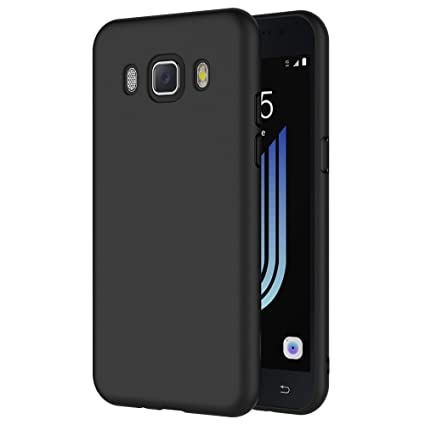 AICEK Funda Compatible Samsung Galaxy J5 2016, Negro Silicona Fundas para Galaxy J5 2016 Carcasa J510 (5,2 Pulgadas) Negro Silicona Funda Case