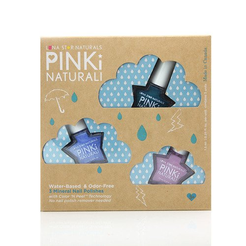 Luna Star Naturals Pinki Naturali Rainy Day Blues Nail Polish Gift Set