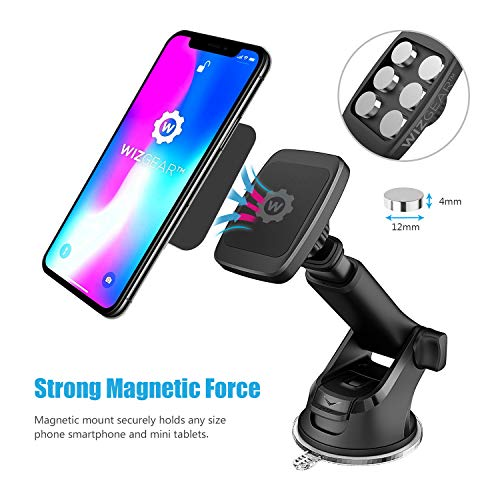976b0f50d98b0d ... Magnetic Phone Car Mount, WizGear Universal Magnetic Car Mount Holder, Windshield  Mount and Dashboard ...