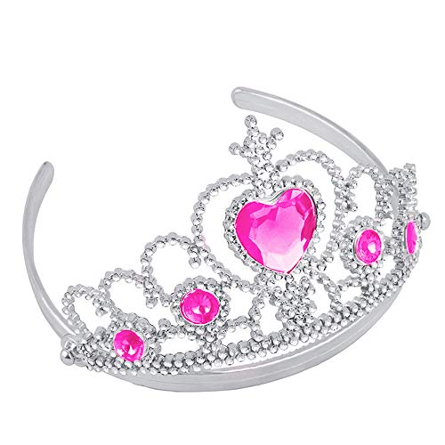 Girl Queen Princess Crown Crystal Tiara Halloween Cosplay -hinestone Princess Tiara for Women, Prom Queen Crown for Pageant, Birthday, Costume Party Holiday Party Gifts]()