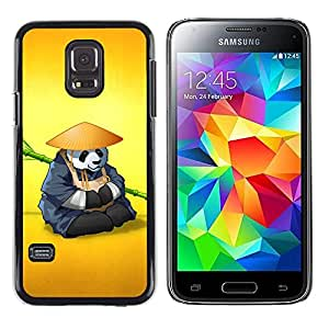 Shell-Star Arte & diseño plástico duro Fundas Cover Cubre Hard Case Cover para Samsung Galaxy S5 Mini / Galaxy S5 Mini Duos / SM-G800 !!!NOT S5 REGULAR! ( The Panda Warrior Meditating )