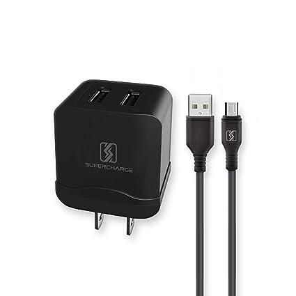 Amazon.com: Cargador USB de doble puerto moderno, adaptador ...