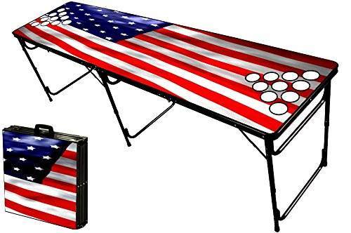 8 foot beer pong table w holes actual holes keeping game cups from sliding spilling free - Professional beer pong table ...