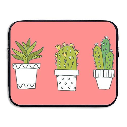Fashion Popular Cactus Watercolor Printed Computer Storage Bag Portable Waterproof Neoprene Laptop Sleeve Bag Zipper Pocket Cover SizaName For MacBook Pro, MacBook Air, - Malaysia Online Popular