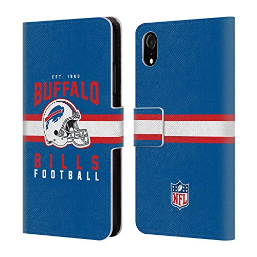Buffalo Bills Credit Card (Official NFL Helmet Typography 2018/19 Buffalo Bills Leather Book Wallet Case Cover for iPhone XR)