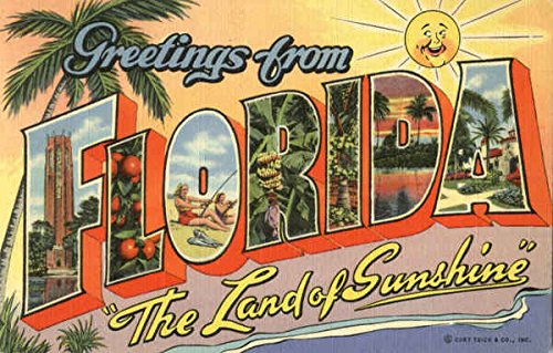 Greetings From Florida Original Vintage Postcard from CardCow Vintage Postcards