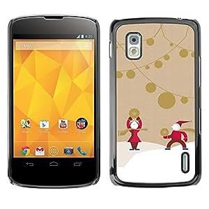 YOYO Slim PC / Aluminium Case Cover Armor Shell Portection //Christmas Holiday Santa Claus 1096 //LG Google Nexus 4