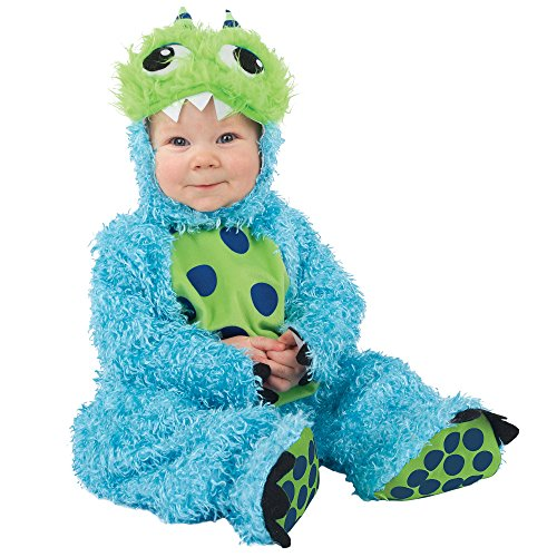 Baby Cute Blue Monster Halloween Costume, Size 6-12 Months