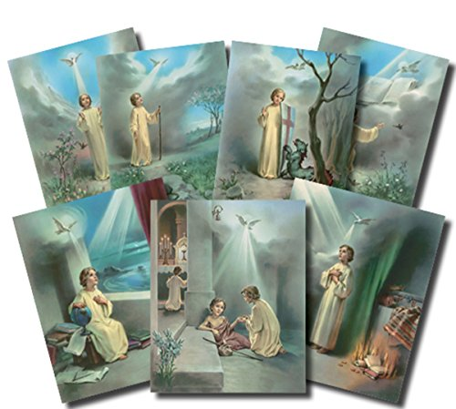Seven Gifts of the Holy Spirit Illustrated Cardstock Poster Set, 7 Pieces, 10 - Stock Spirit