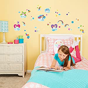 BirthdayExpress Enchanted Fairytale Unicorn Rainbow Room Decor – Small Wall Decal