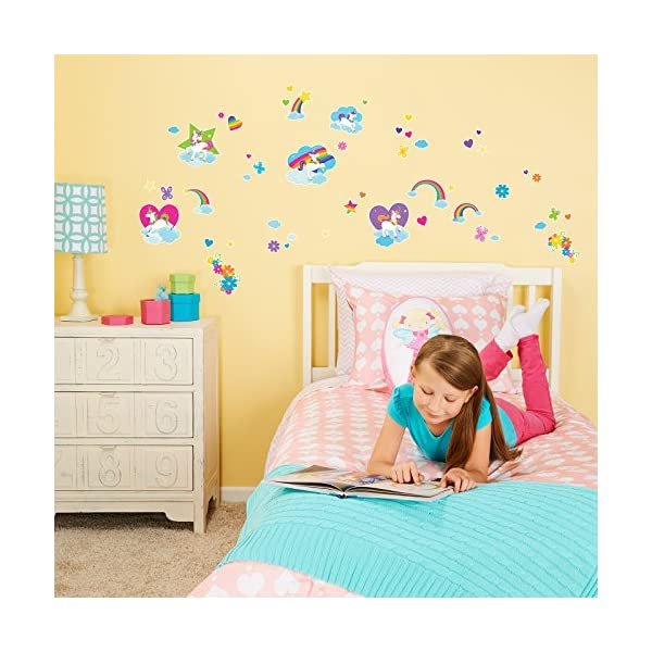 BirthdayExpress Enchanted Fairytale Unicorn Rainbow Room Decor - Small Wall Decal 3