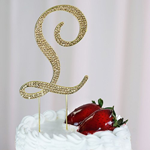 Monogram l wedding cake toppers