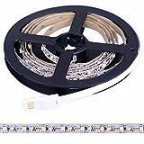 Amazlife Bias Lighting for HDTV - Medium (118in/3m) - USB LED Backlight Bright Normal White Strip for Flat Screen TV LCD, Desktop Monitors