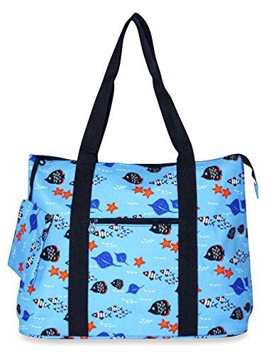 Ever Moda Fish Tote Bag X-Large