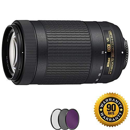 Nikon AF-P DX NIKKOR 70-300mm f/4.5-6.3G ED VR Lens with UV Filter (Renewed)