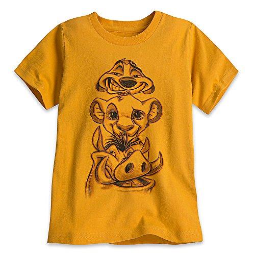 Disney The Lion King T-Shirt For Boys Size XXS (2/3) Orange ()