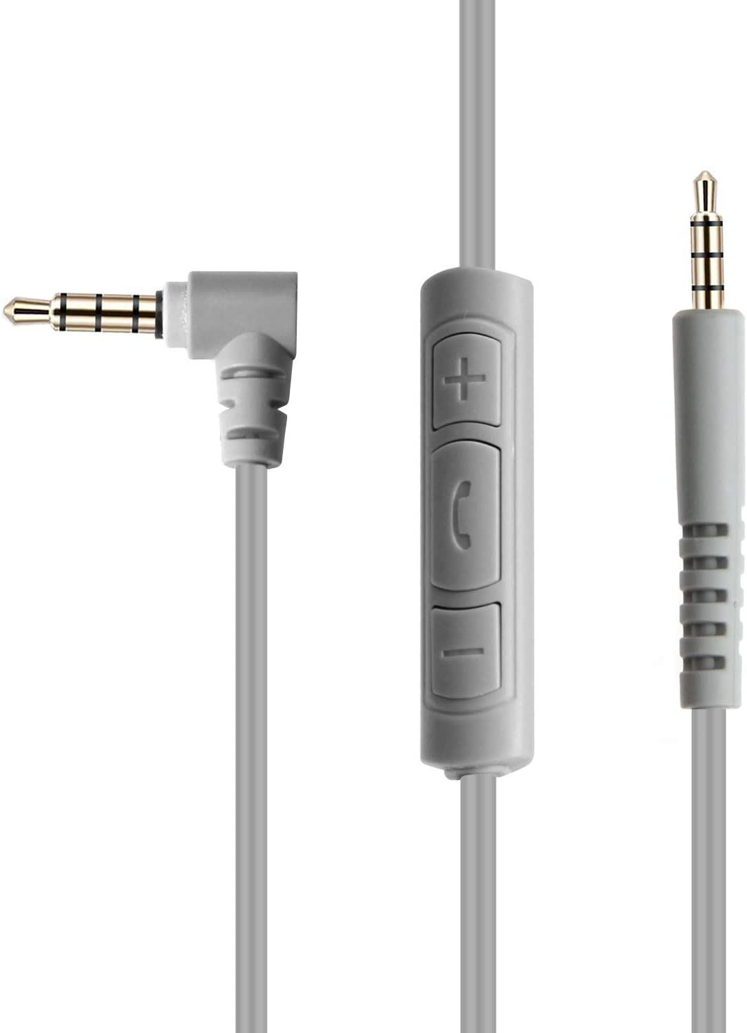AmazonBasics Bose Quiet Comfort Replacement Inline Mic Remote Headphone Cable for Android Devices - Gray