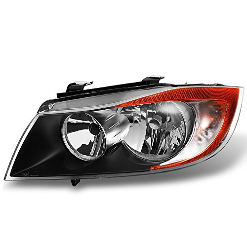 For BMW 3 Series E90 Sedan Halogen Type Black Driver Left Side Front Headlight Head Lamp Replacement 2008 Bmw 335i Sedan
