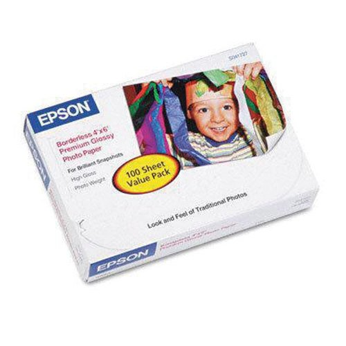 (Epson FBA_s041727 Premium Glossy Photo Paper, 4X6 100)