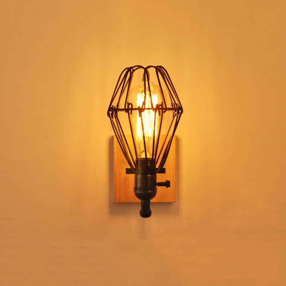 Viraaty Kopfteil Schlafzimmer Bauernhaus Garage Veranda Schwarze Oberfläche E27 Lampe Retro-Stil Edison Country Wall LightWand-Dekoration Warmweiß 2700K auf und downLeuchte Einfache Wandleuchte