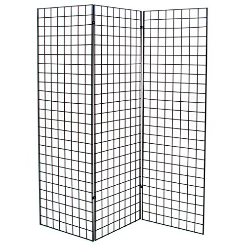 KC Store Fixtures 05316 Grid Z Unit with 3 2' x 6' Panels, Black (Art Display Panels compare prices)