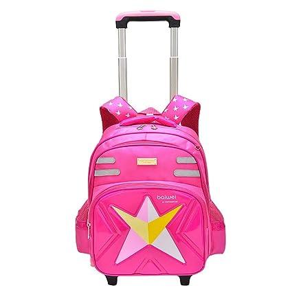 fa6f4a02d9 Geromg 2 6 Wheels Children Trolley Backpack Detachable Waterproof  SchoolBags Rolling Backpacks Grades 1-