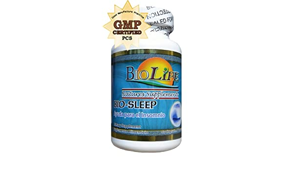 Amazon.com: Bio Sleep 60 Caps By Biolife, Help Insomnia, Balance Nerves and Anxiety, with Melatonin and Valerian: Health & Personal Care
