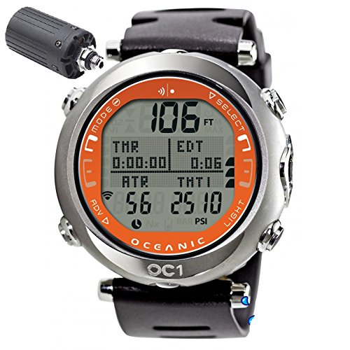 - Oceanic OC1 Complete Wireless Dive Watch Orange-With Free Online Training Class - Does NOT include Buddy Check Feature
