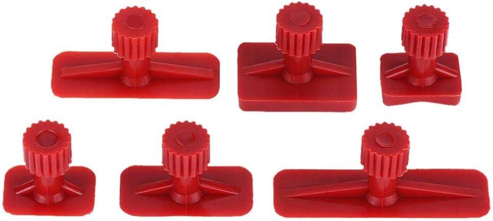 Hlyjoon Kit de Tirant Onglets dExtracteur de R/éparation Paintless 6 Pcs Outils de D/ébosselage R/éparation de Carrosserie pour Voiture