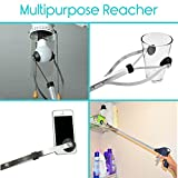 "Vive Suction Cup Reacher Grabber - 32"" Heavy Duty Mobility Grip Hand Aid - Handle Tool Light Bulb Remover, iPad Pickup, Long Handled Trash Litter Picker, Garbage Garden Nabber Extender - Handicap Arm"