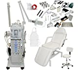 22 in 1 Elite Series Multifunction Diamond Microdermabrasion Facial Machine & Adjustable Hydraulic Bed Table Chair Salon Spa Beauty Equipment