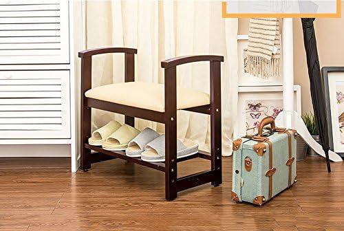 Jcrnjsb sgabello per divano scarpiera in legno massello scarpiera