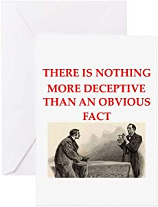 CafePress Sherlock Holmes Quote Greeting Card, Note Card, Birthday Card, Blank Inside Matte