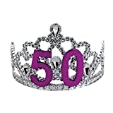 BigMouth Inc 50th Birthday Silver Tiara