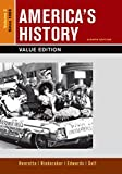 America's History, Value Edition, Volume 2 8th Edition