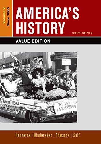 Loose-leaf Version of America's History, Value Edition, Volume 2