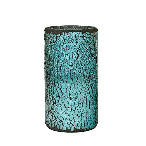 GiveU Mosaic Flameless Pillar Led Wax Candle with Timer, 3 x 6