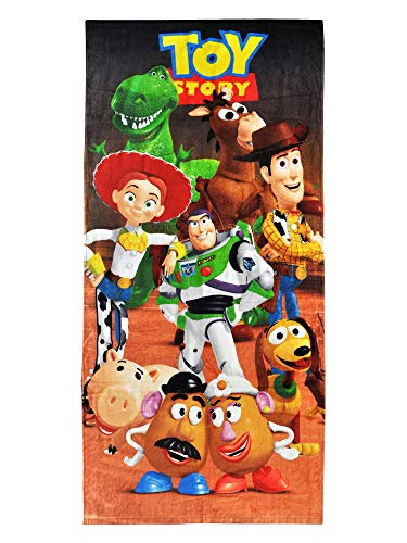 (Disney Toy Story Beach Towel Woody, Buzz Lightyear, Jessie Character Print)