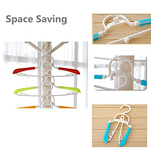 Glcon Pack Of 10 Foldable Travel Hangers Space Saving