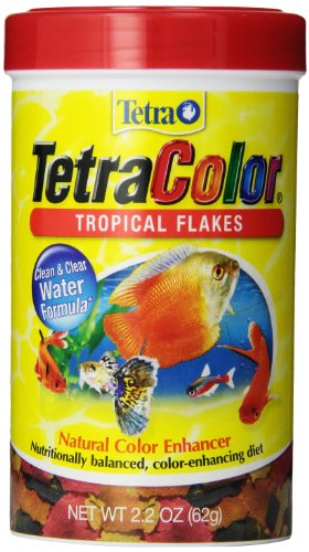 Tetra 77161 TetraColor Tropical Flakes, 2.20-Ounce, 375 ml
