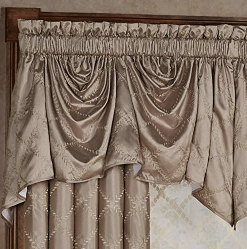 J Queen Window Leaf Lattice Austrian Valance 94 x 29