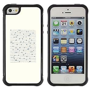 Híbridos estuche rígido plástico de protección con soporte para el Apple iPhone 5 / 5S - boat minimalist pen art waves sea