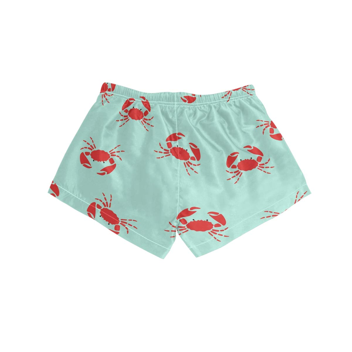 Women Swim Trunks Red Crabs On Blue Background Beach Board Shorts